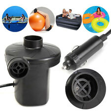 DC 12V Car Auto Electric Air Pump Inflator Toy AirBed Mattress Boat + 3 Nozzles