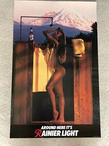 Rainier lite - Taking a shower - Sexy Beer Poster