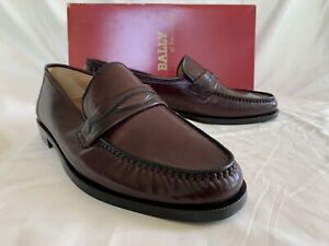 BALLY of SWITZERLAND - Leather Loafers - Dark Brown - Men's 9.5 E - Brand New!