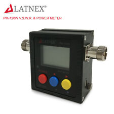 LATNEX PM-120W (SO239) VHF/UHF 125-525Mhz Power & SWR Meter & Frequency Counter