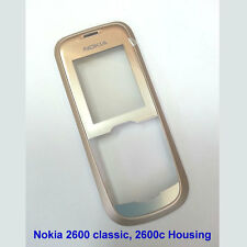 Genuine Nokia 2600 classic 2600c Front Fascia Housing Screen Lens panels - Gold