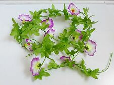 "Six Purple 90"" Morning Glory Hanging Vines Artificial Flowers"