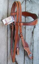 Headstall - Basket/Floral Browband with Scalloped Cheeks