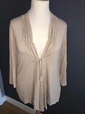 NWT SIGNATURE EXPERIENCE TAUPE STRETCH LONG SLEEVE TOP SZ 2XL (22-24) RRP £49.99