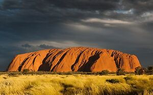 australia photo landscape art print AYERS ROCK A0 CANVAS PRINT ULURU