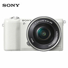 SONY A5100 Mirrorless Digital Camera with 16-50mm  Lens Kit Wi-Fi NFC [ White ]