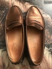 Tods Gold Loafers Size 6
