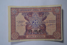 French Indo-China 20 Cents P90 1942 Banknote.