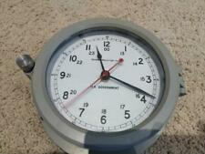 Vintage US Navy Navistar Marine Instrument Bulkhead Clock - Awesome