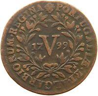 PORTUGAL 5 REIS 1799 MARIA I. #t80 343