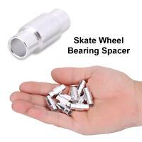 10Pcs Aluminum Skate Wheel Bearing Spacers Skateboard Shaft Sleeve Pipe Tool MF