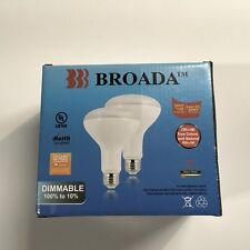 1000 Lumens Broada LED Bulb Dimmable 2 Pack Warm White Color