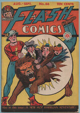 Flash Comics #66 All American Pub/DC Comics 1945 Golden Age Flash! Nice Copy FN-