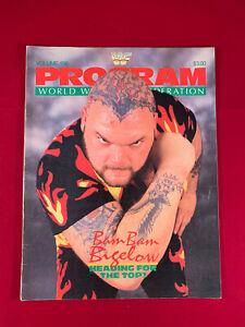 WWF WWE Magazine Program Vol 156 Bam Bam Bigelow Hulk Hogan Rude Warrior Sleeve