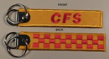 COUNTRY FIRE SERVICE - CFS -  SOUTH AUSTRALIA EMBROIDERED  KEY TAG 25X125MM FIRE