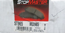 BRAND NEW STOP MASTER MD965 / D965 BRAKE PADS FITS VEHICLES ON CHART