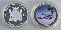 Sambia / Zambia 1000 Kwacha 2010 Skorpion p202 Silber pp