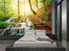 Nature Waterfall Water Trees Plants Wall Mural Photo Wallpaper GIANT WALL DECOR