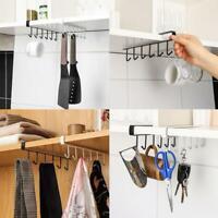 Kitchen Under Cabinet Towel Cup Paper Hanger Rack Organizer Shelf Storage A1Y8