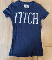 Abercrombie & Fitch Women's T Shirt Blue Short Sleeve XS 100% Cotton Faded