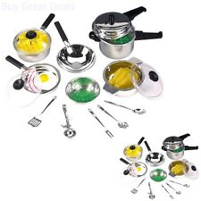 Toy Pan Set Pots Kitchen Cookware Kids Cooking Utensils Food Pretend Cook Play