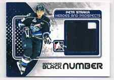 2010-11 HEROES & PROSPECTS GAME-USED JERSEY PETR STRAKA PATCH NUMBER 2 COLORS /6