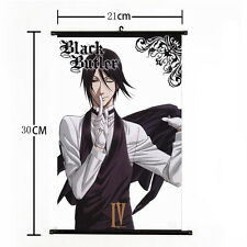 "8""*12""Home Decor Japanese Black Butler Cosplay Anime Wall Poster Scroll Painting"