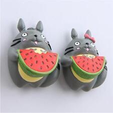 2X My neighbor totoro Fridge magnets Eat watermelon Lovers Totoro Action Figures