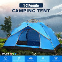 Full Automatic Open Outdoor Camping Tent 1-4 People Folding Thick Rainproof Dome