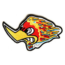 Embroidered Cartoon Smokin Duck Iron on Sew on Biker Patch Badge