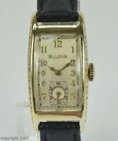 "Hau Herrenuhr Marke Bulova ""Curvex"" Handaufzug 10 Kt vergoldet Armbanduhr Uhr"