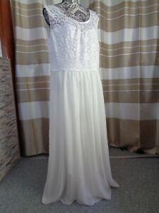 (30)Edles Damen Braut Standesamt Abend Kleid  GR: GR: 48