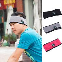 Wireless Bluetooth Stereo Headphone Sports Sleep Headband Headset with Mic new