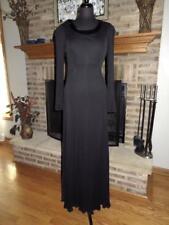 Vintage JEAN MUIR Long Black Sequin Collar Evening Dress  12