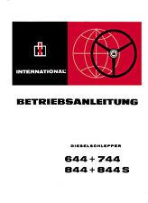 Bedienungsanleitung IHC Schlepper 644+744+844+844S