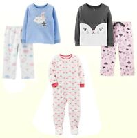 New Carters Toddler Girls One Or 2-pc. Fleece Pajama Sleeper Sleepwear 2T -5T