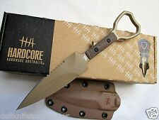 Hardcore Hardware ASOT-01 Tactical CPP Fixed Blade Knife Tan ASOT SOCP Compliant