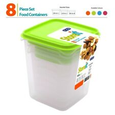 8pc Contenants De Nourriture Set Avec Couvercle Congélateur Micro-onde BPA Free ...