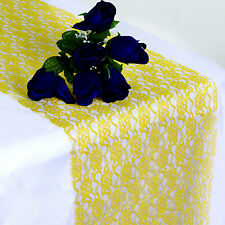 """PACK of 20 Wedding 12"""" x 108"""" Lace Table Runner Party Venue banquet Decoration"""