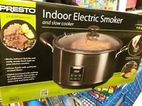 Presto Smoker Slow Cooker Indoor Electric Auto Shut Off Digital Timer $119
