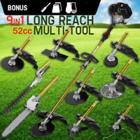9 in 1 Heavy Duty Grass cutter with 52cc Engine Multifunction petrol cutter saw