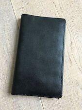 FILOFAX Slimline Piccadilly Black Leather Personal Organizer Agenda New VTG