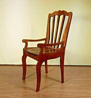 """Сhair for BRB FR FR2 BJD Dolls furniture 1/6 12"""" OOAK 2020 RARE wooden V12"""