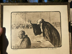 Honore Daumier France 1808 -1879 Lithograph  The Argument