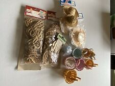 Rag Doll Making Supplies Lot Of Hair,baskets,and Straw Hats