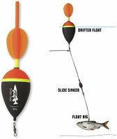 Quantum Mr. Pike Drift Angler Fishing Float Black - Pack Of 5