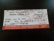 Squeeze with Cheap Trick 2010 Concert Ticket Stub State Theatre New Brunswick Nj