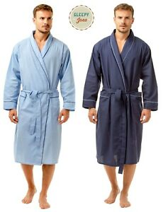 Traditional Men's Poly Cotton Lightweight Dressing Gown Robe by Sleepy Joe