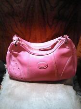 Tod's Pink Pebble Leather Handbag