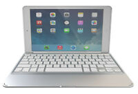 Zagg Slim Book iPad Air 2 Bluetooth Keyboard Backlit Keys Detachable Case